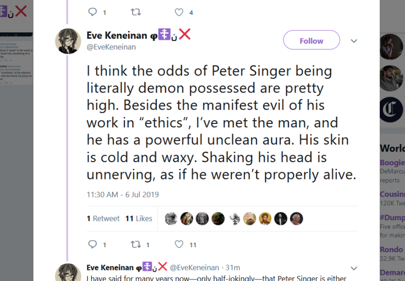 Eve K on Singer