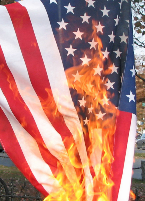 the consequences of desecrating the american flag The university of kansas has relocated a controversial paint-splattered american flag after widespread backlash and criticism, but has not removed the art display from campus the flag was originally displayed on a flagpole outside the spooner hall building.